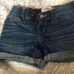 Girls Abercrombie jean shorts size 7/8